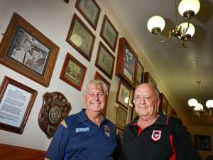 REUNION: Neville Bermingham and Russell Feltham look back on the days of pub club rugby and cricket in Gympie.