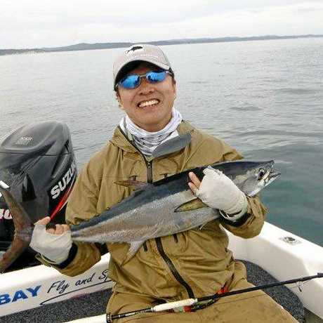 Hiro with a longtail on fly