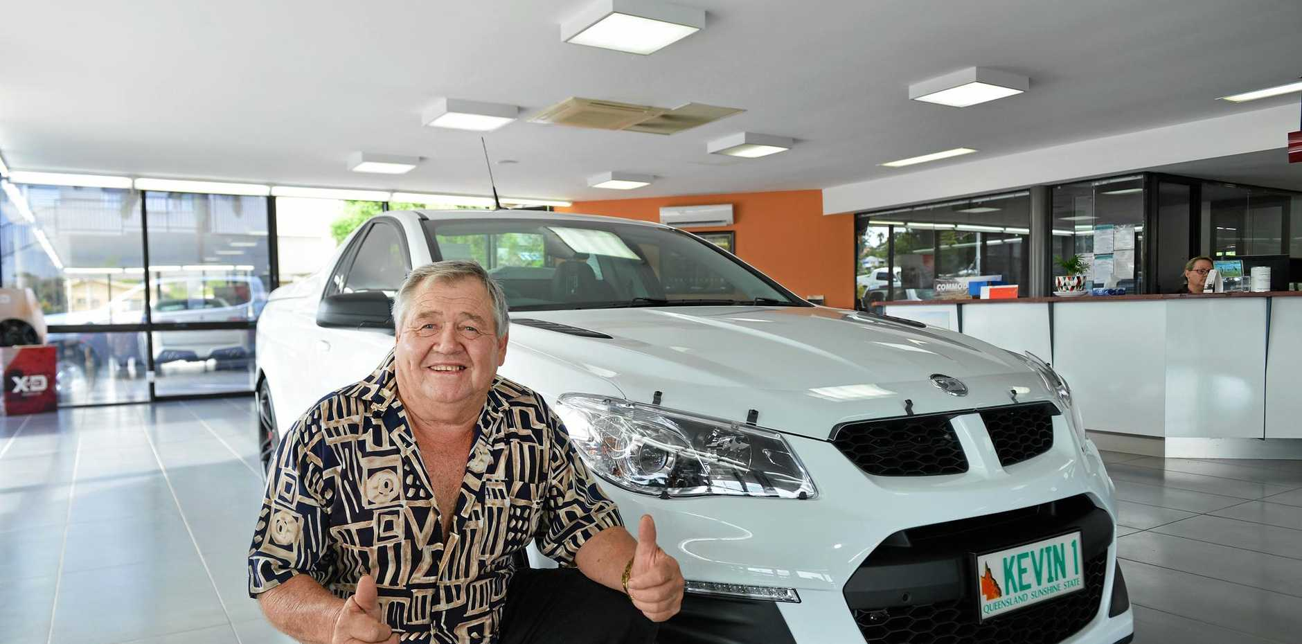 LAST OF ITS KIND: Gympie business identity Kevin Stolzenberg, with his new wheels, Gympie's last top of the range 2017 HSV Maloo utility.