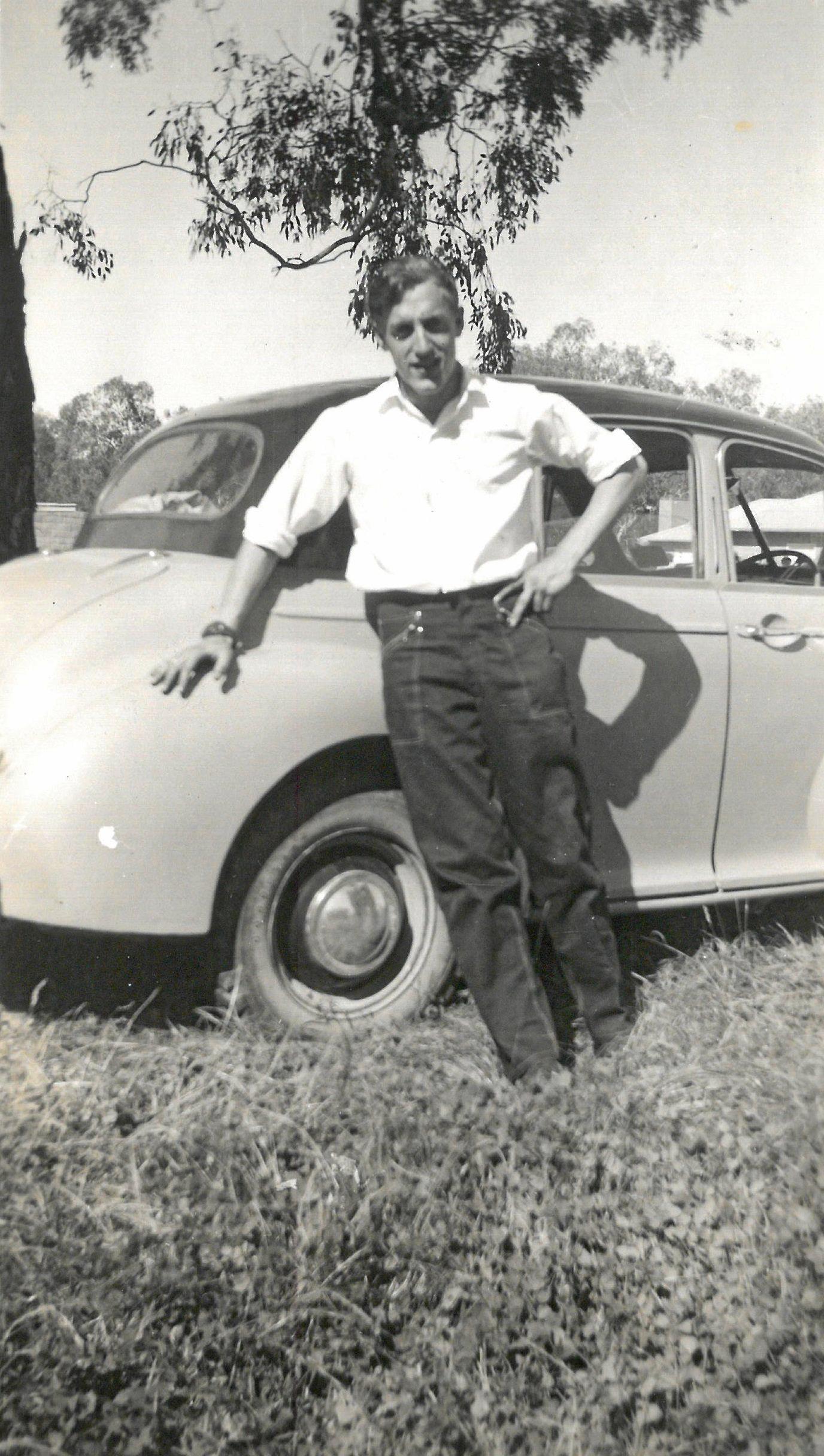 Dick van Tricht as a young man.