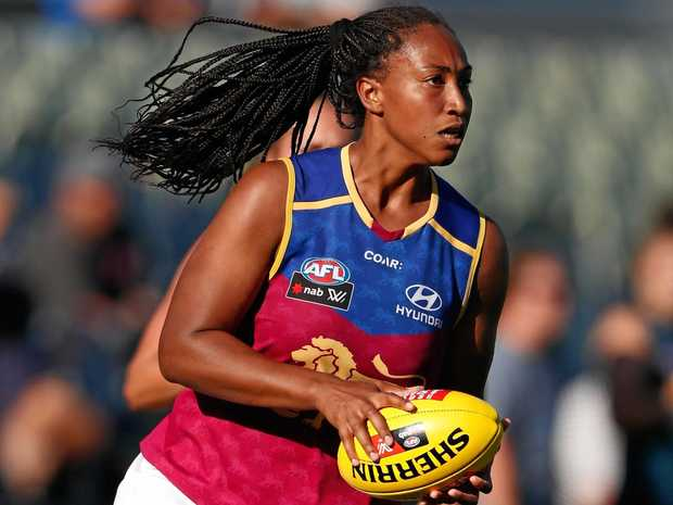 Lions star Sabrina Frederick-Traub is not concerned by the controversy over where the AFLW grand final is being played.