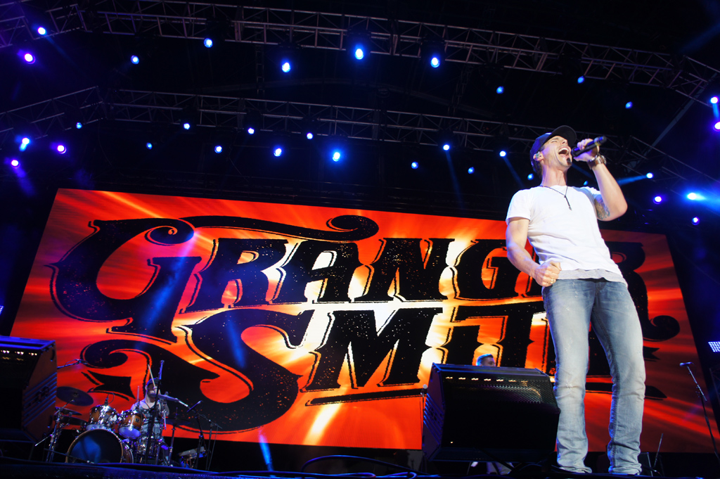 Granger Smith performs on the main stage during the first night of the CMC Rocks festival at Willowbank.