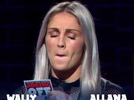 Allana Ferguson on The Footy Show.