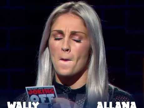 Allana Ferguson on The Footy Show.