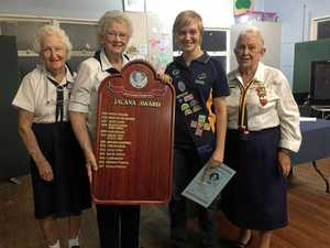 Emma wins coveted Girl Guide award