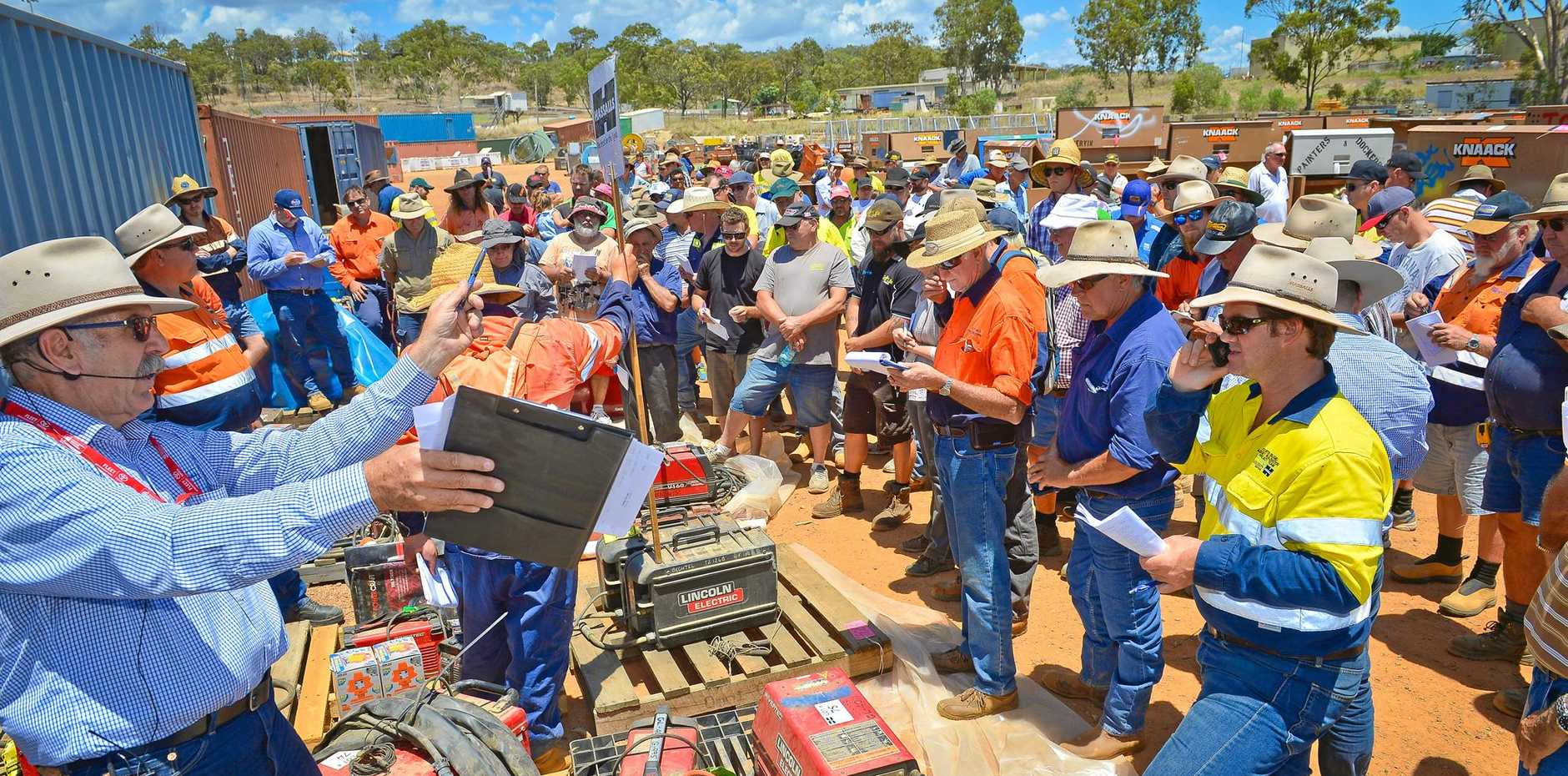 Hassalls auction of Bechtel gear attracts a lot of buyers from Brisbane, Auctioneer Steve Wall said.