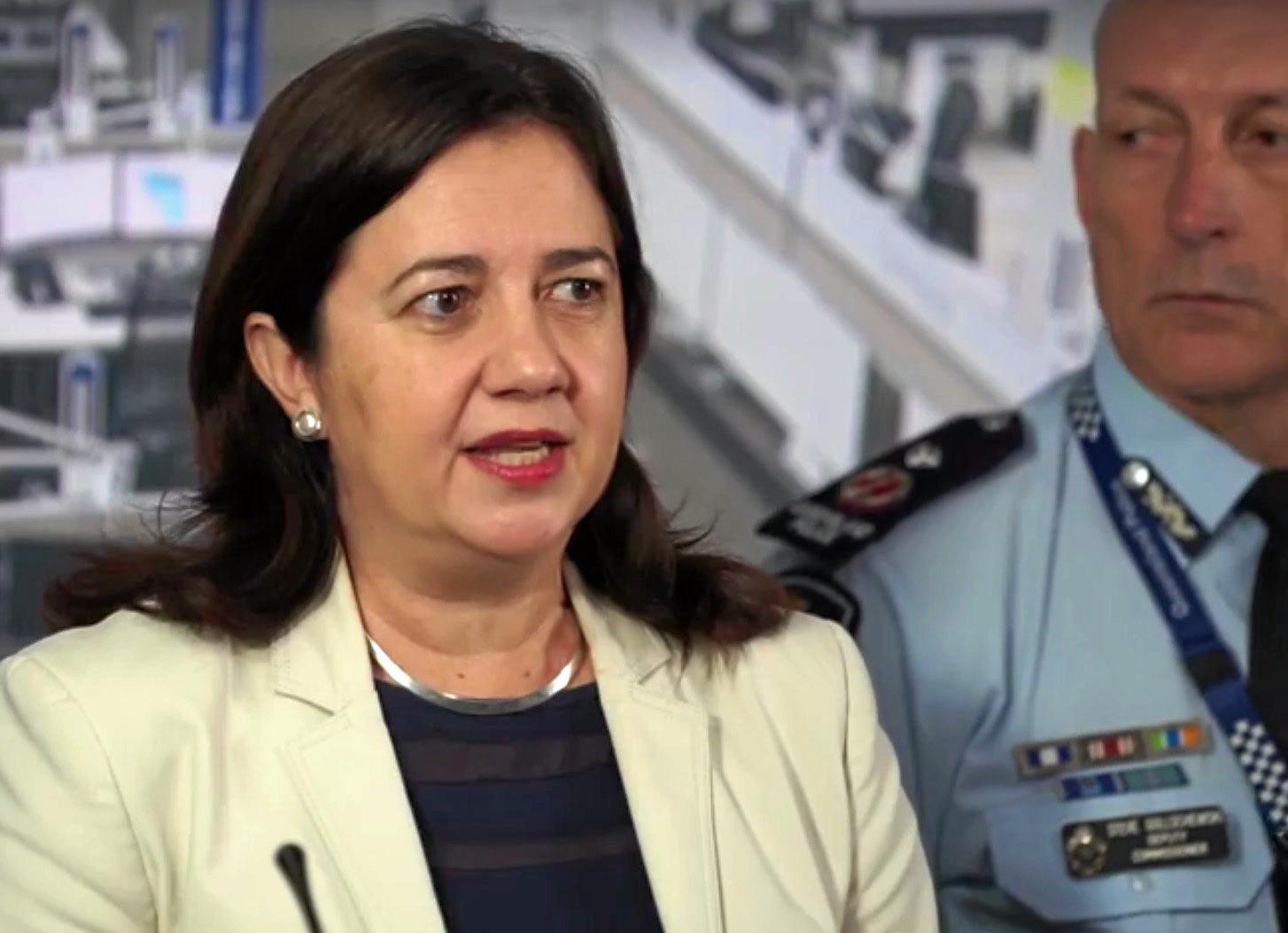 Premier Annastacia Palaszczuk addressed the media regarding Cyclone Debbie.