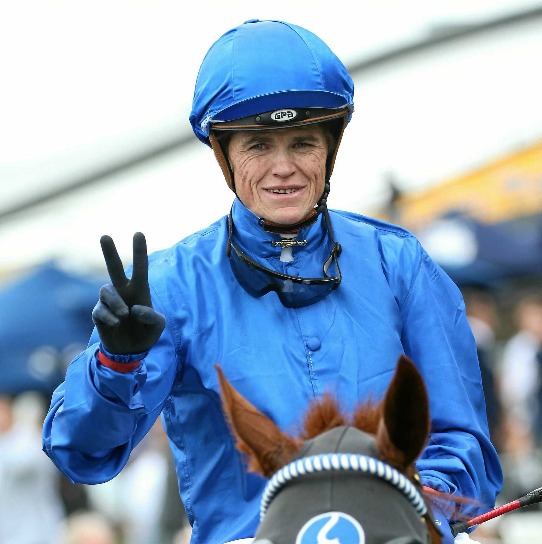 Jockey Craig Williams was kocked out after a fall in the Mornington Cup.