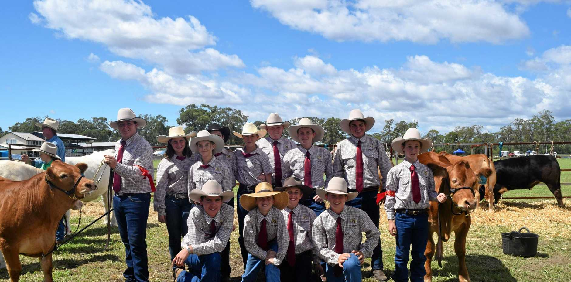 STAR PERFORMERS: The DSHS Cattle Show Team at the Jandowae Show on Saturday.