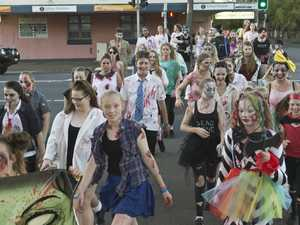 Toowoomba Hospital Foundation's Zombie Walk raising funds for children's health at Toowoomba Hospital, Saturday, March 25, 2017.