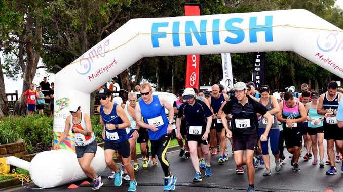 The Bay Break Multisport Festival, Hervey Bay - Competitors in the 21km half marathon event.