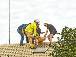 Firefighters retrieve man from roof of Wilsonton home