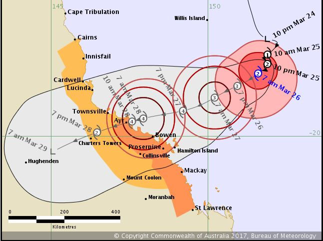 WARNING ZONE: BoM issued this revised