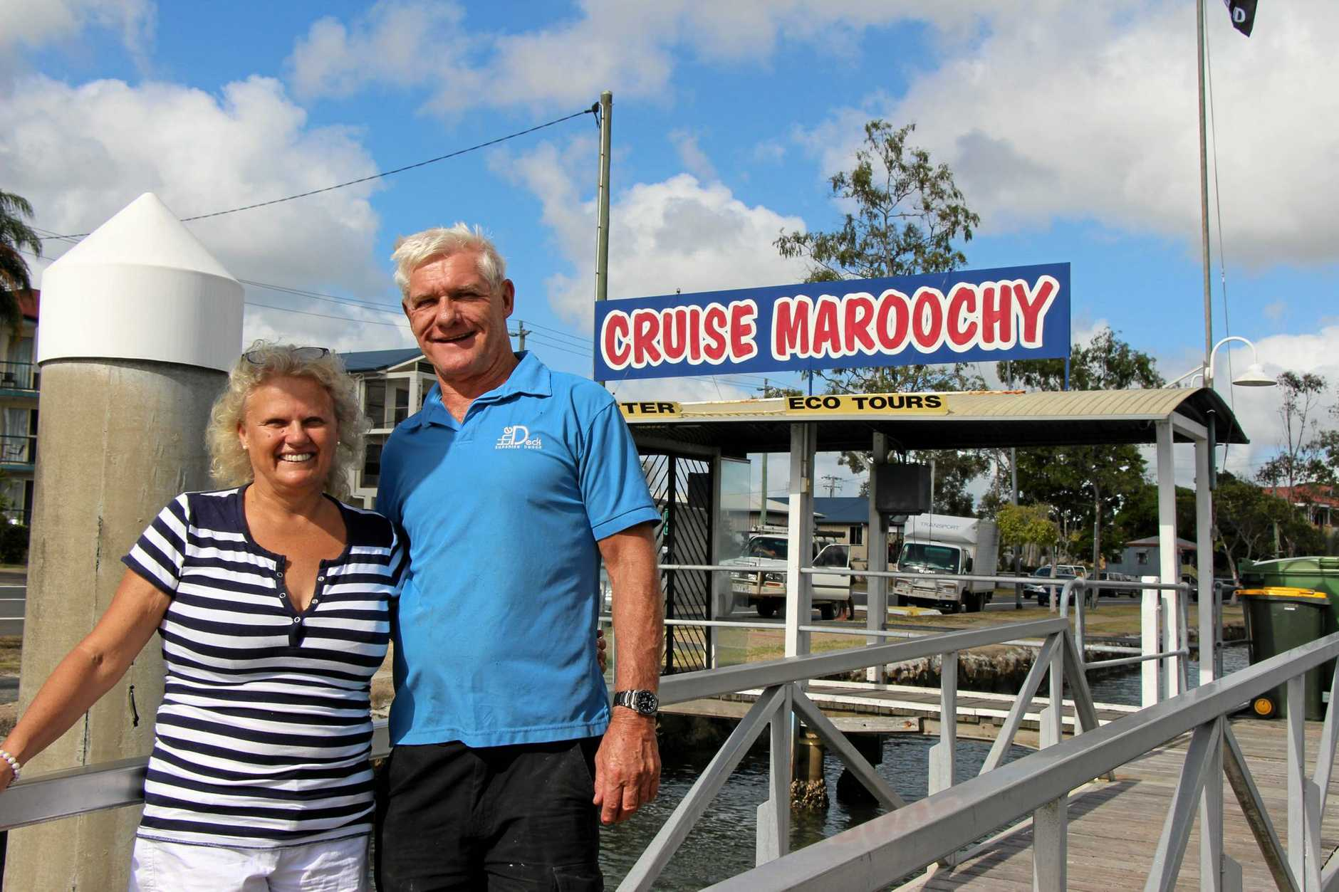ALL ABOARD: Kate and Denis Poynton, of Cruise Maroochy.
