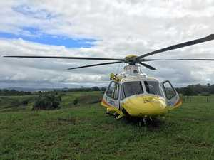 Woman airlifted after being knocked over by cow