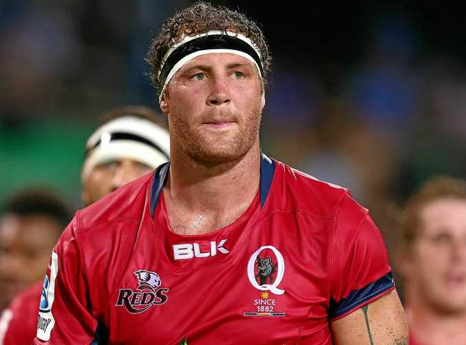 Scott Higginbotham scored the Reds' only try in the defeat to the Jaguares.