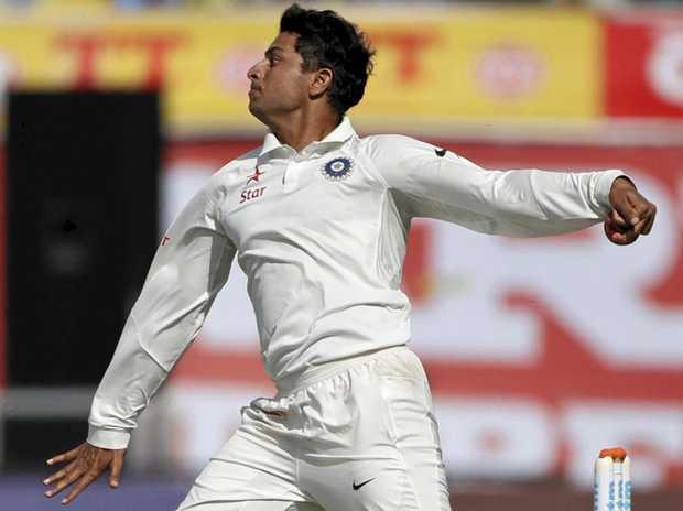 FINE DEBUT: India's Kuldeep Yadav thanked Shane Warne for coaching tips.