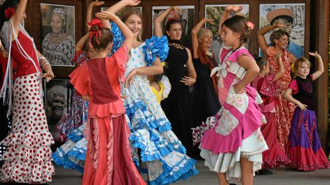 Flamenco dancing group Pasion Gitana performing at the 11th annual Coffs Harbour Harmony Festival held at the North Coast Regional Botanic Garden.