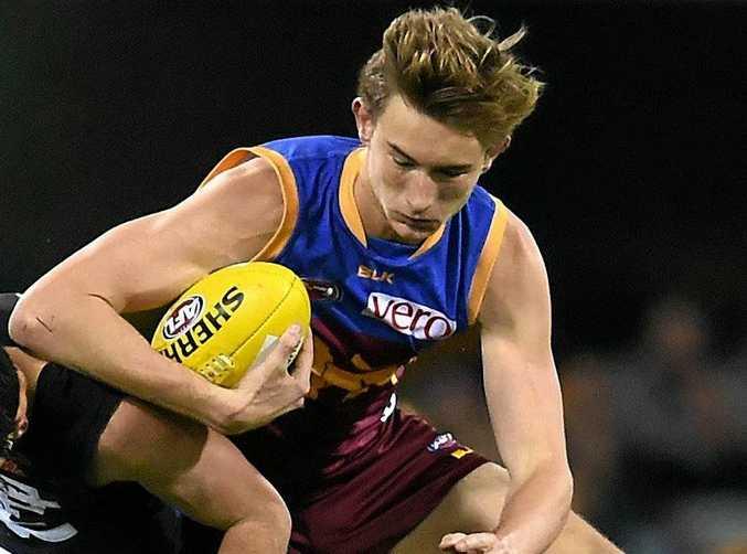 Harris Andrews of the Brisbane Lions kept Tom Lynch under wraps