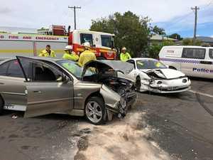 WATCH: Emergency crews rush to two-car crash