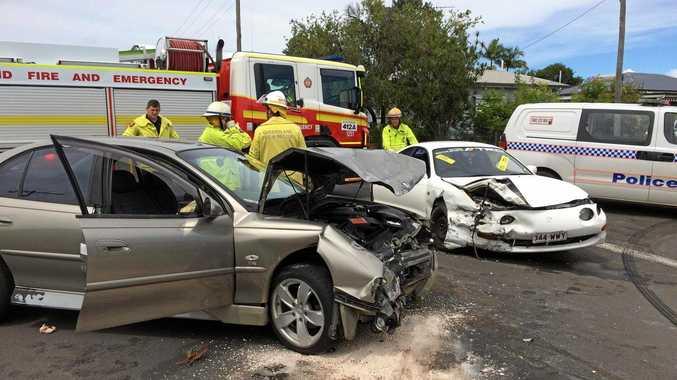 watch emergency crews rush to two car crash news mail