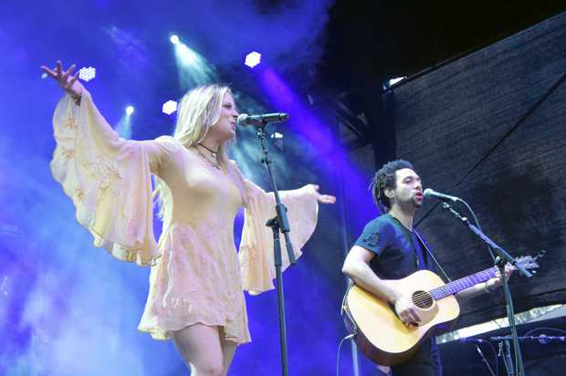 The Shires perform during day one of CMC Rocks at Willowbank.