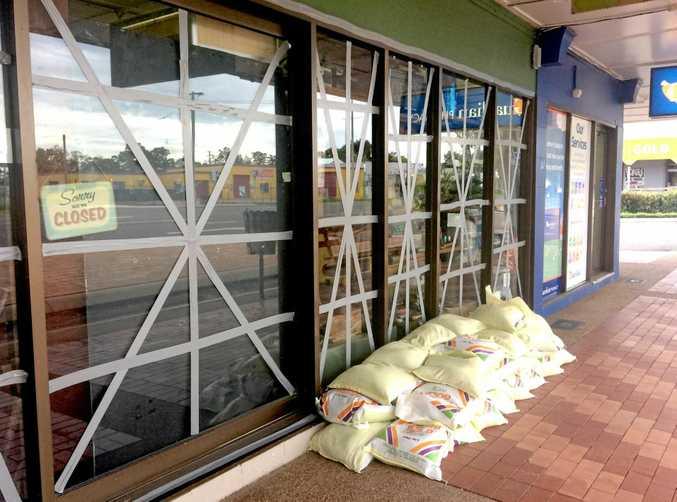 Cyclone Debbie preparations under way at Home Hill, North Queensland.
