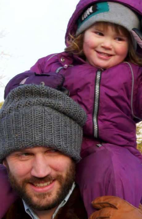 Erik Hertsius with daughter Gertrude.