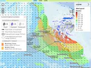Cyclone Debbie strengthens to Cat 3, heads south