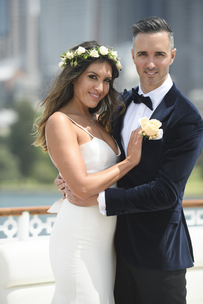 Nadia and Anthony pictured during their wedding on Married At First Sight.