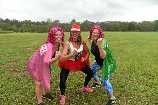 SWEAT TIME: Maria Baird, Leanne Oldfield and Bec Lowther are raising funds for the Bribie Island Diabetes Support Group.