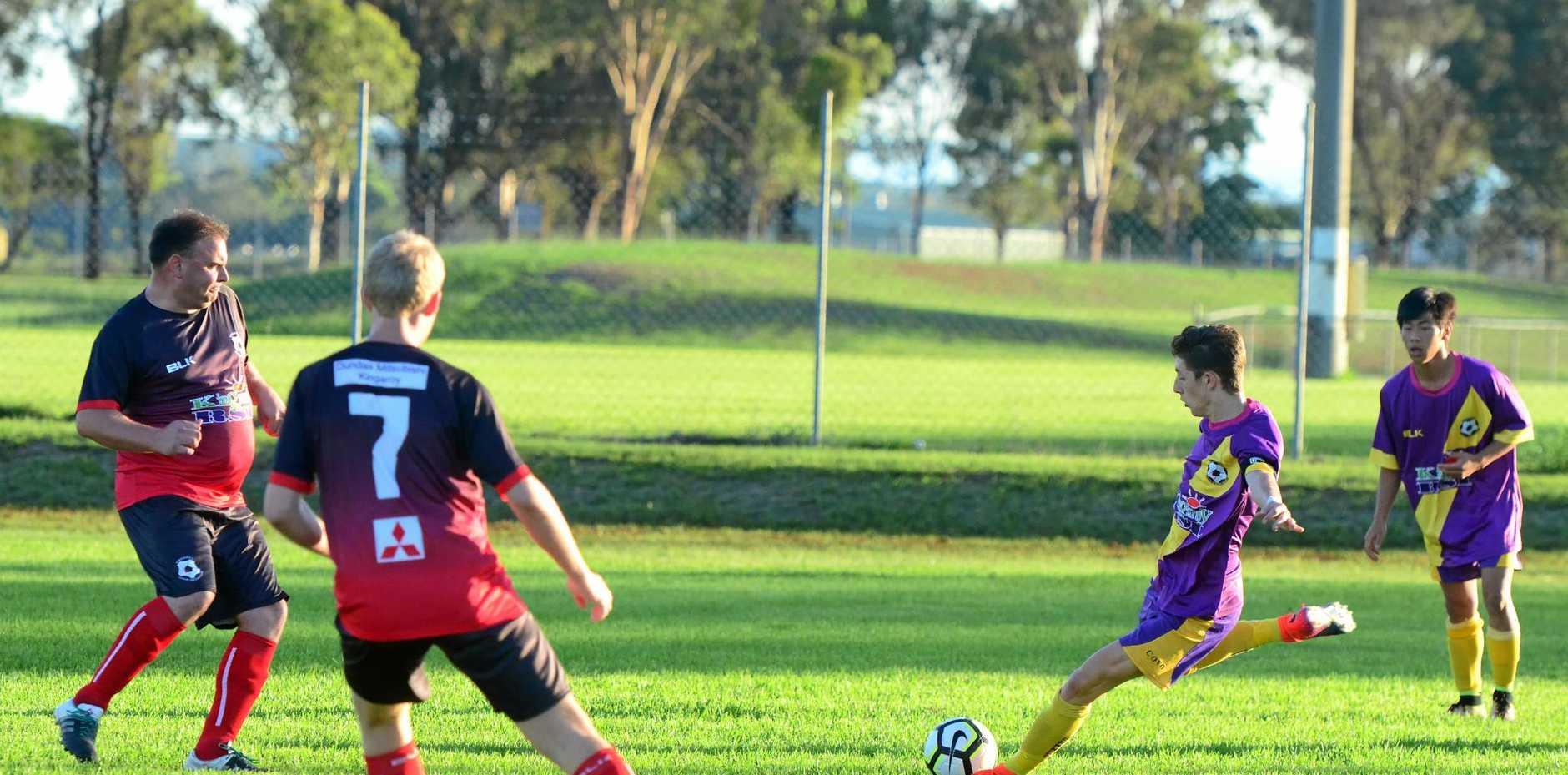 Joseph Copas launches a long ball for Gunners.