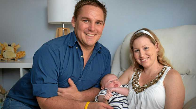 Husband Rob Jericho with hiw son Cooper and wife Bech Jericho.