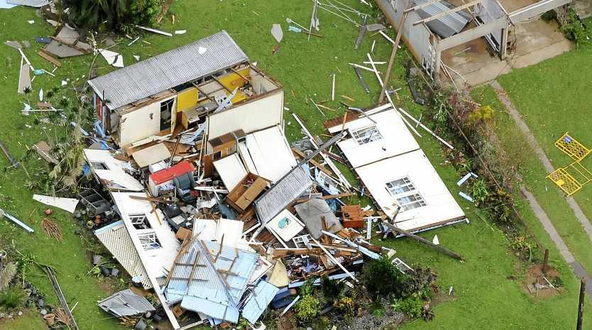 Cyclone Yasi devastation at Tully.