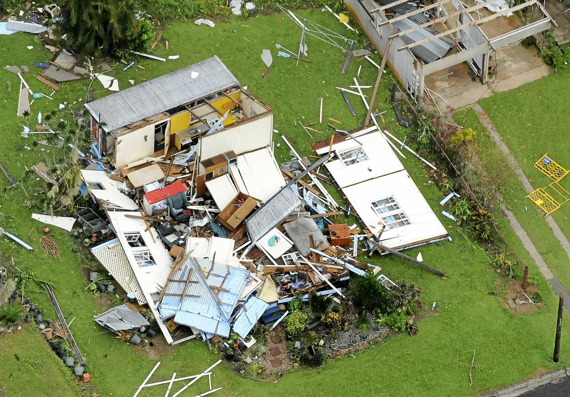 Cyclone Yasi devastation at Tully.