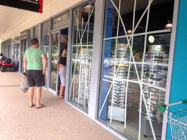 PREPARED: Businesses are taking plenty of precautionary measures before Cyclone Debbie hits.