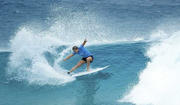 Stephanie Gilmore of Australia in action on her way to win her sixth Roxy Pro at Gold Coast.