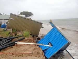Resort moves structures as cyclone swell hits GKI