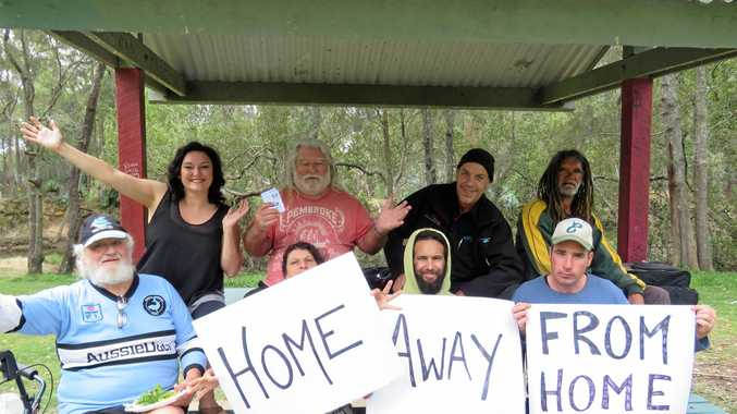 HELPING OUT: Donna Pike (left, back row) started the Coffs Harbour Homeless and Needy Facebook group, donating goods to the Coffs Coast's less privileged.