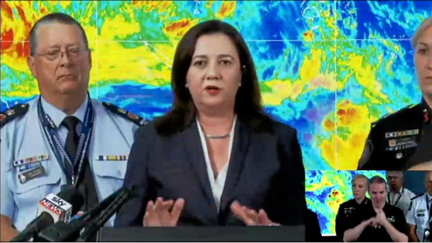 The Premier and her team made the call to shut SE QLD schools before the weather had even hit.
