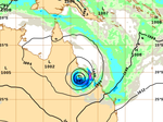 The Bureau's raw weather modelling is presently forecasting phenomenally heavy rainfall for Hamilton Island and Airlie Beach after the system crosses the coast in the early hours of Wednesday morning.