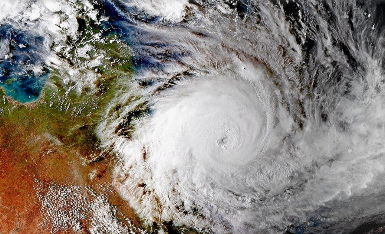 Cyclone Debbie from space.
