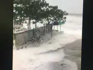 Storm surge at Sarina Beach