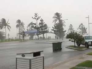 Rain and wind impacting Emu Park