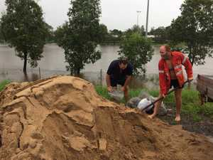 Sandbagging begins in Rocky