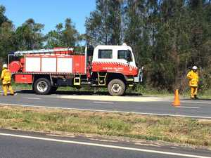 Elderly woman caught in two car crash on highway