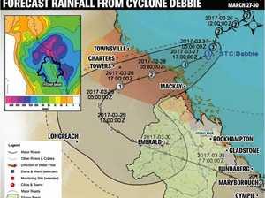 Cyclone Debbie could flood Rockhampton streets