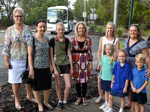 SAFETY CALL: Cr Ingrid Jackson is helping locals address road safety concerns outside St Teresa's Catholic College.