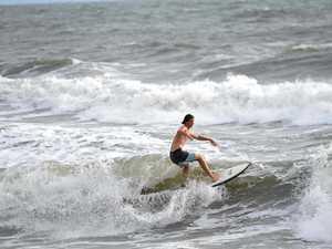 GALLERY: Cyclone Debbie brings surf to Bundy region