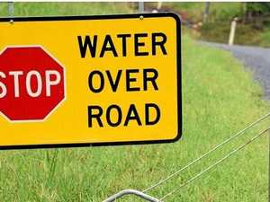 ROAD CLOSURES: Water over some roads in the region